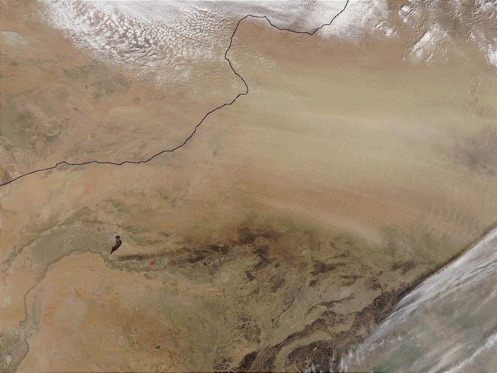 Dust storm in Inner Mongolia, China - related image preview