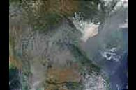 Fires and smoke in Myanmar, Thailand, Laos, and Vietnam