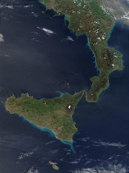 Phytoplankton bloom along the coasts of Sicily and Calabria, Italy - related image preview