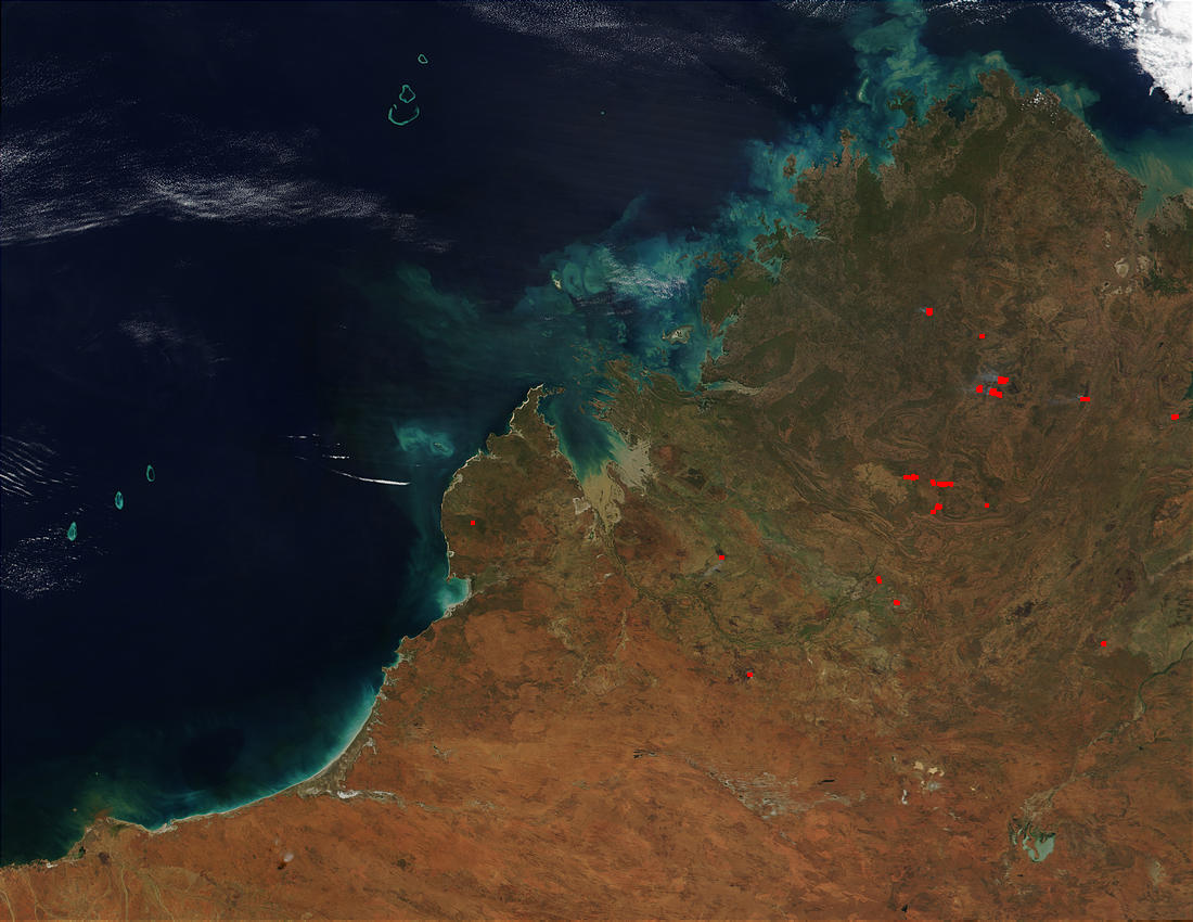 Nasa visible earth northwest australia