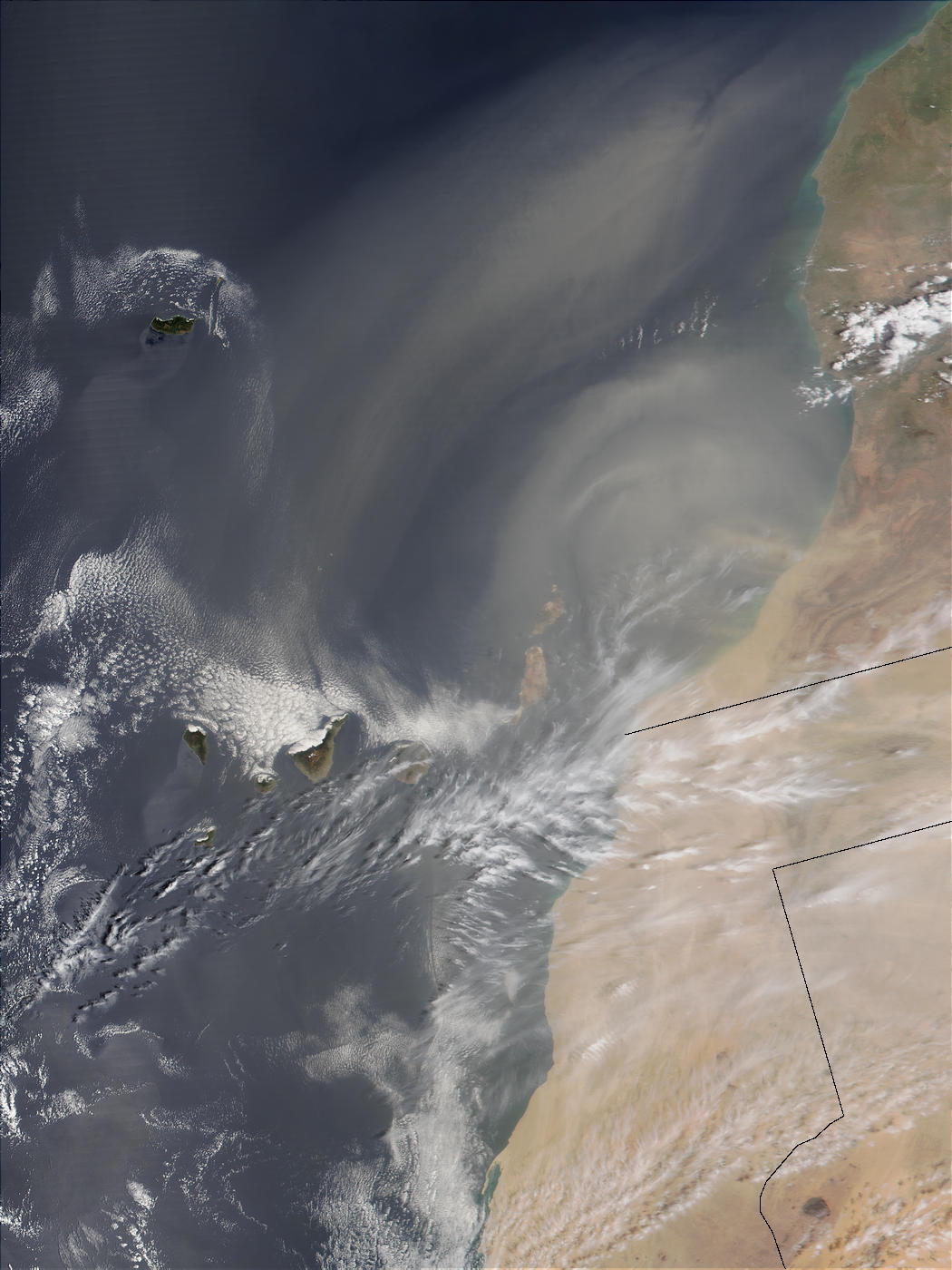 Saharan dust over Canary Islands - related image preview