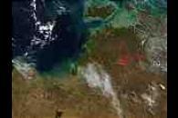 Wildfires near Darwin, Northern Australia