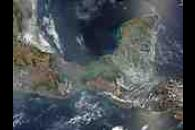 Fire and smoke in Central America