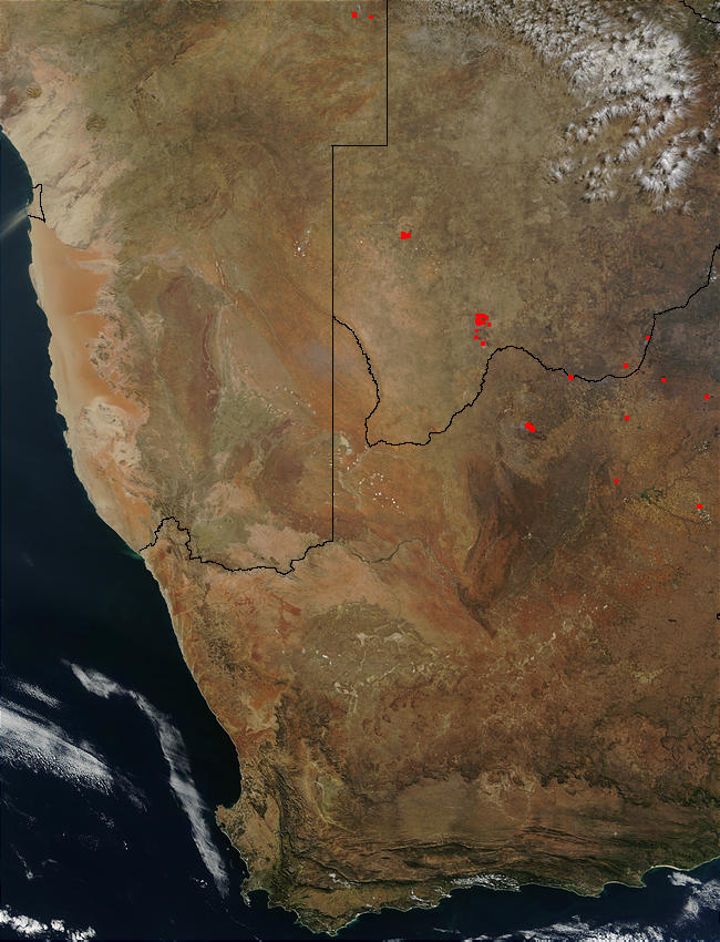Fires in Botswana and South Africa - related image preview