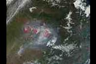Fires in the Amur Region, Russia