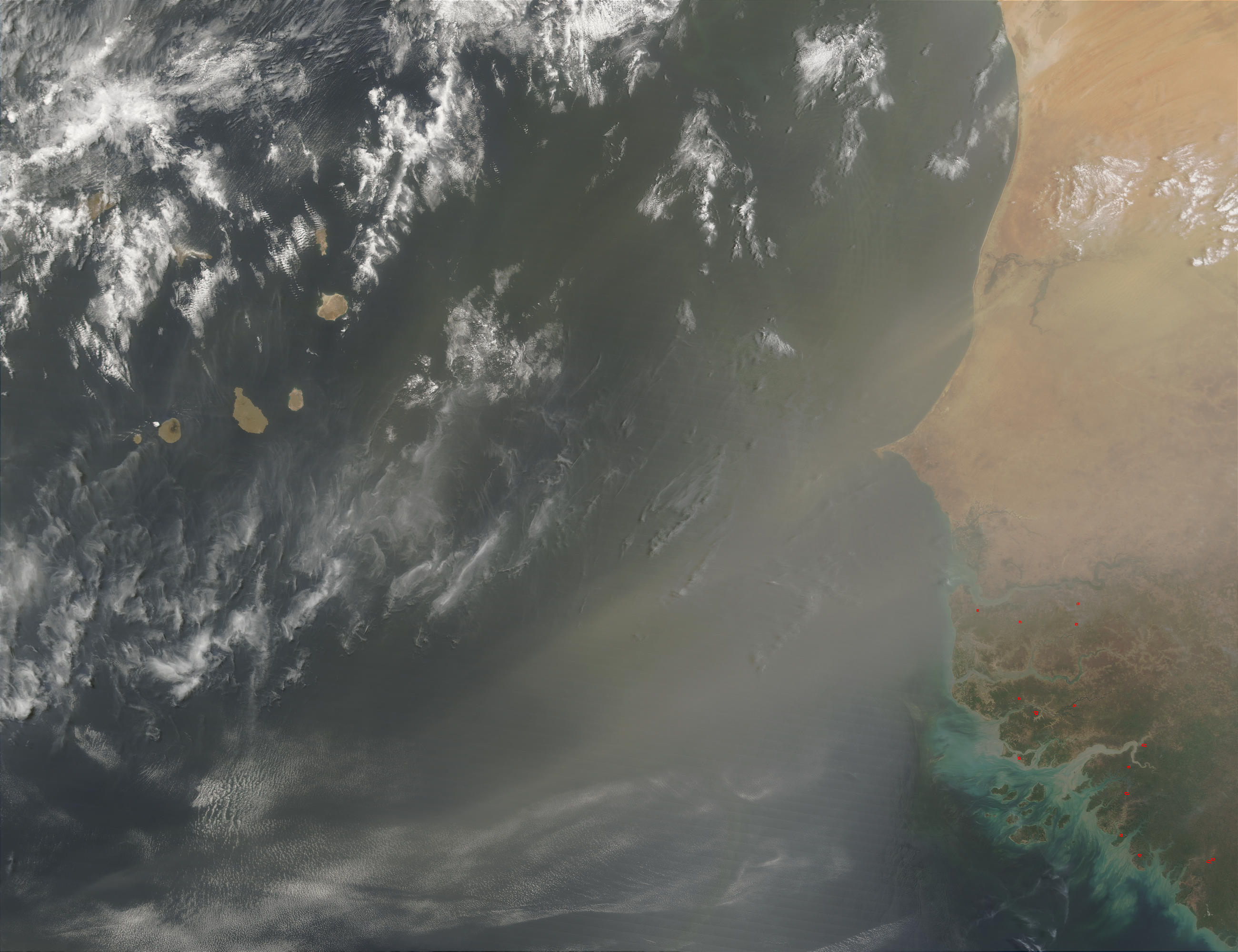 Saharan dust off Western Africa - related image preview