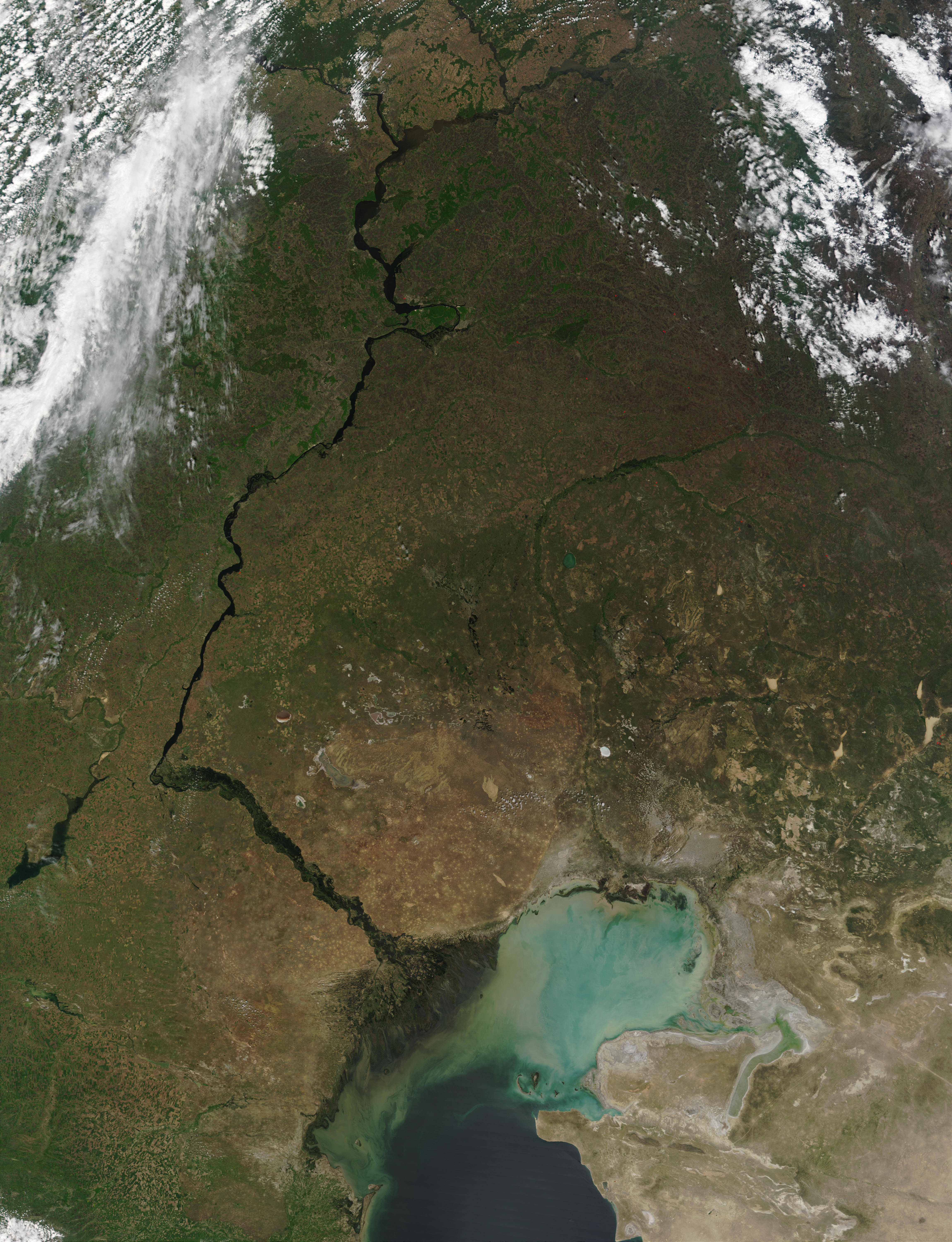Volga River and Caspian Sea - related image preview