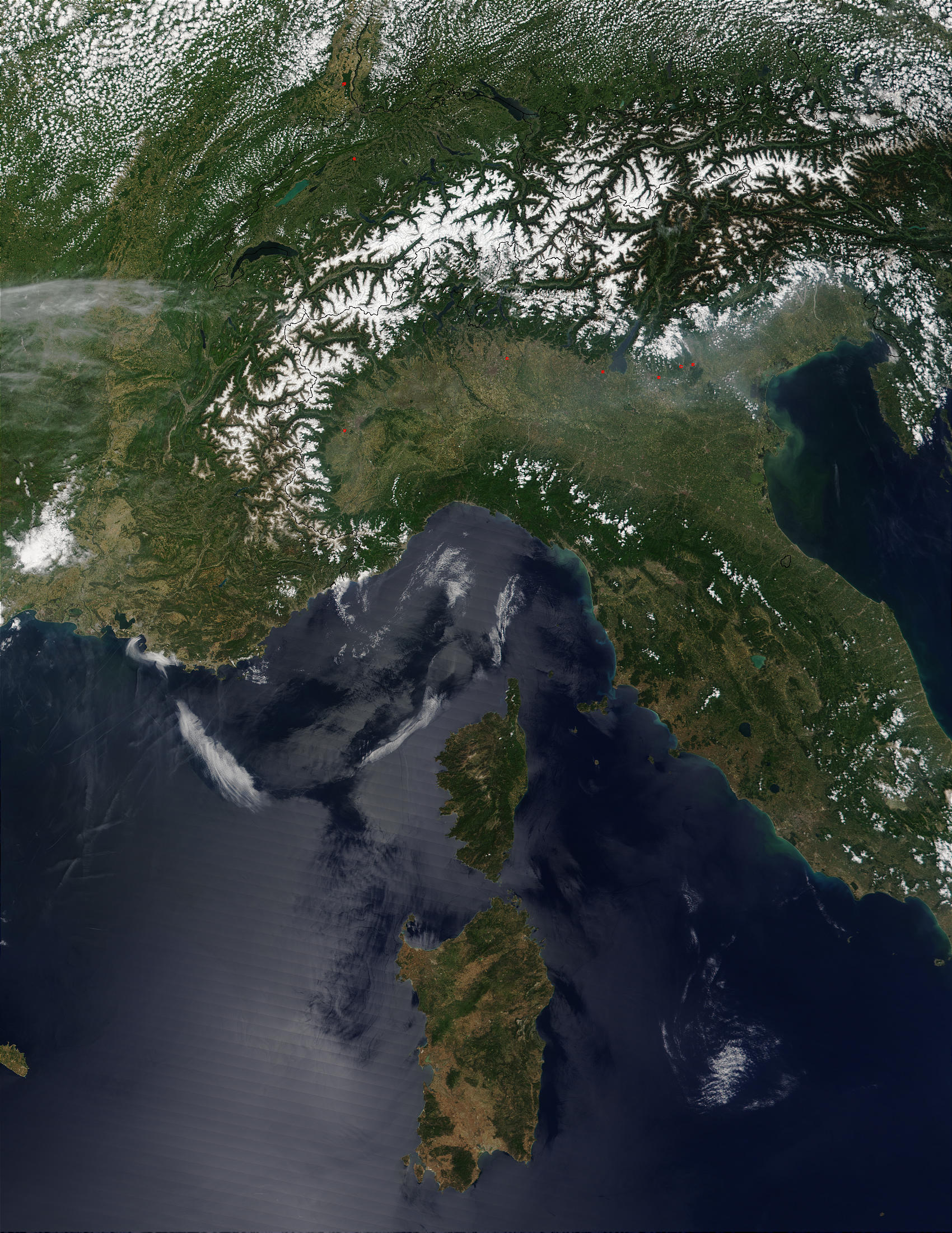 The Alps and Northern Italy - related image preview