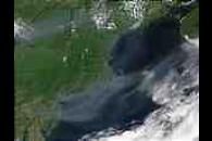 Smoke from fires in Canada off New England