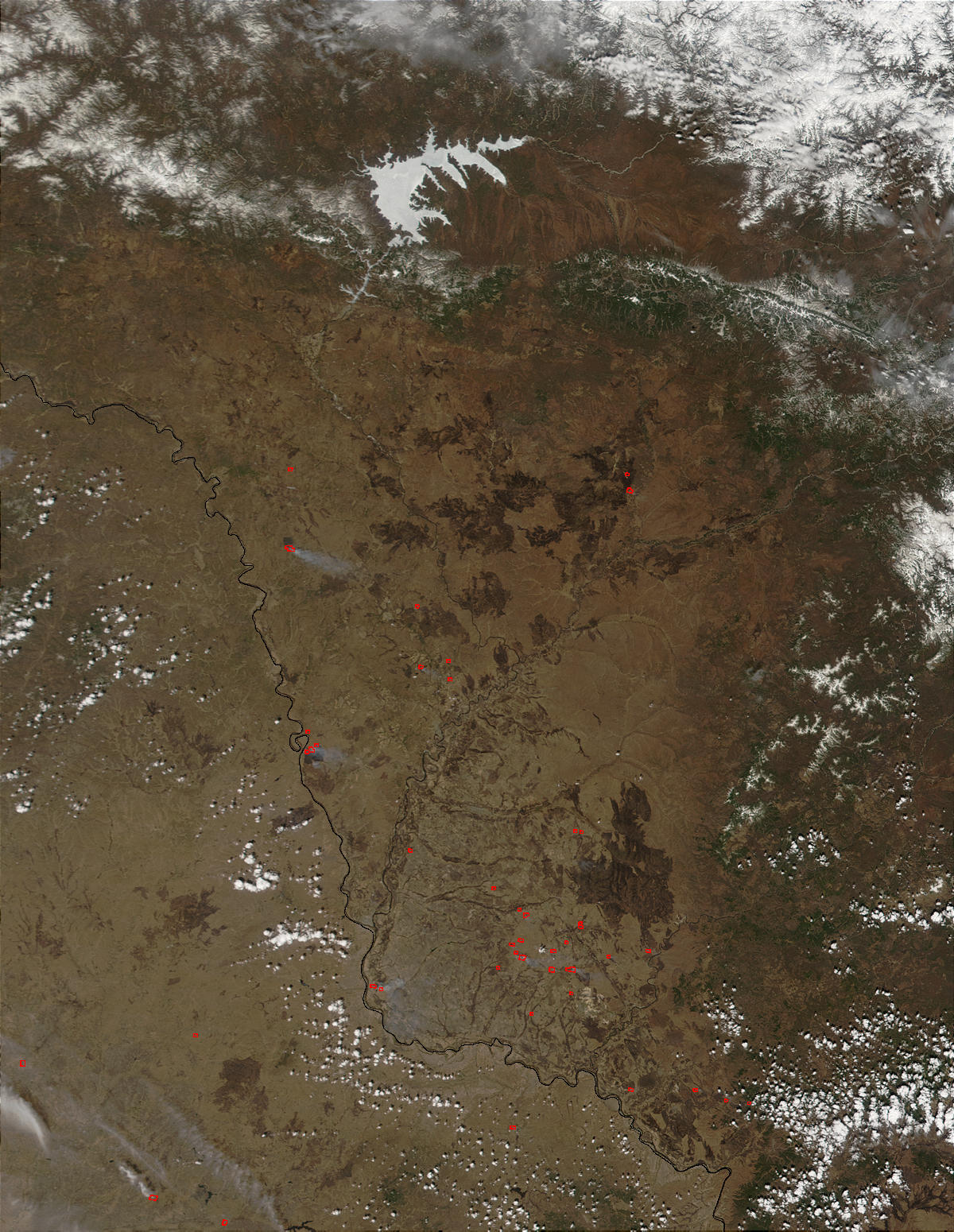 Fires and burn scars in the Amur region, Eastern Russia - related image preview