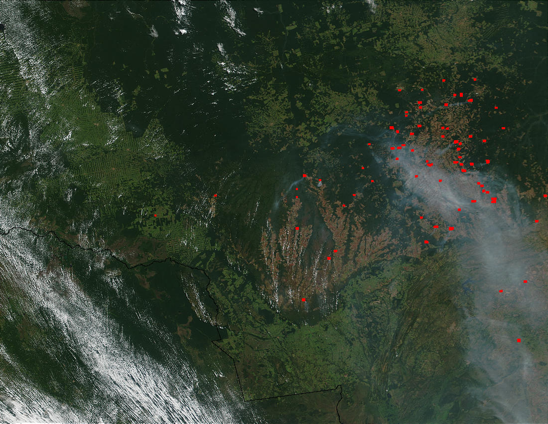Fires and smoke in Mato Grosso State, Brazil - related image preview