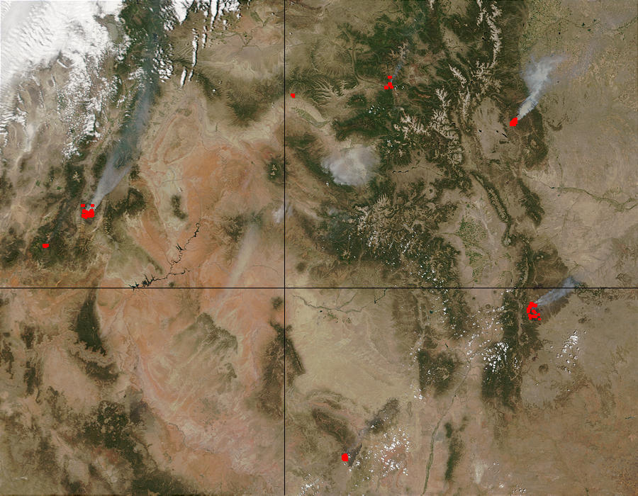 Fires in Utah, Colorado, and New Mexico - related image preview