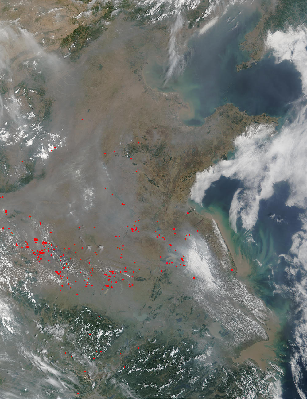 Fires and smoke in China - related image preview