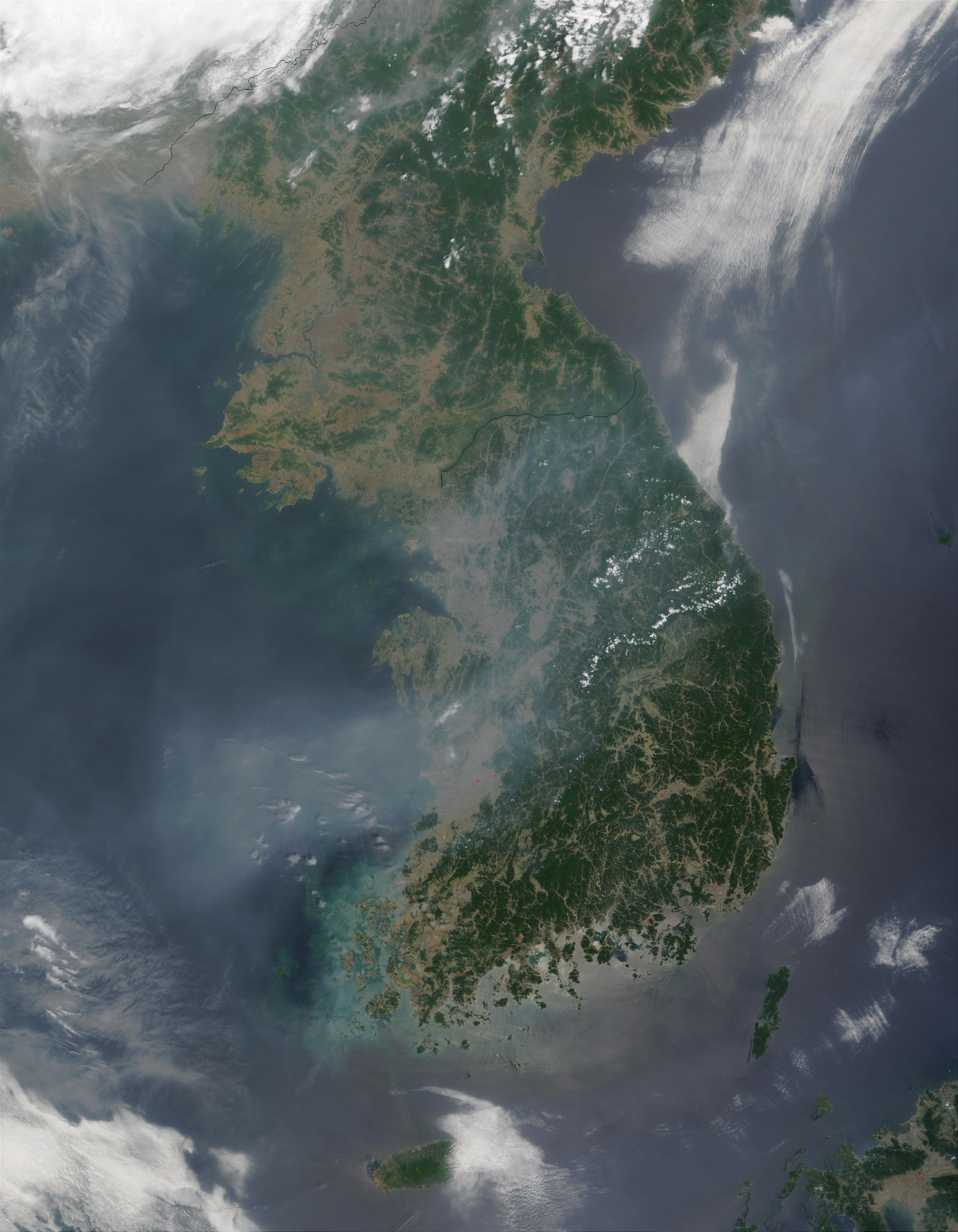 Fires and smoke in Korea - related image preview