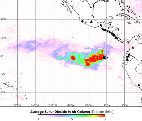 Sierra Negra Sulfur Dioxide Emissions