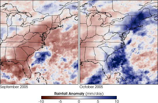 Record Rain and Drought in the East