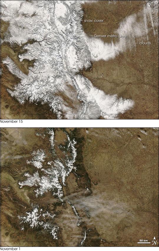 Snowy November in Colorado