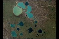 Pothole Lakes in Siberia