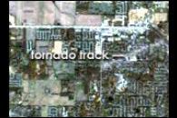 Tornado Track Across Indiana and Kentucky