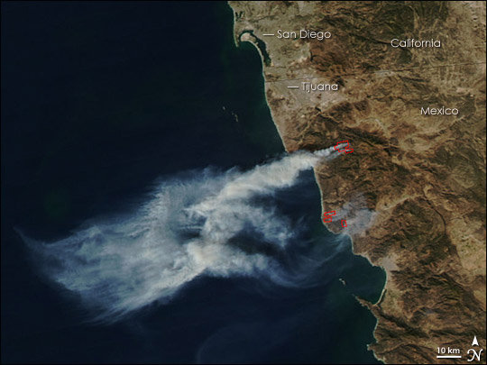 Fires in Northern Mexico