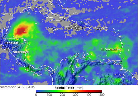 Tropical Storm Gamma Floods Central America