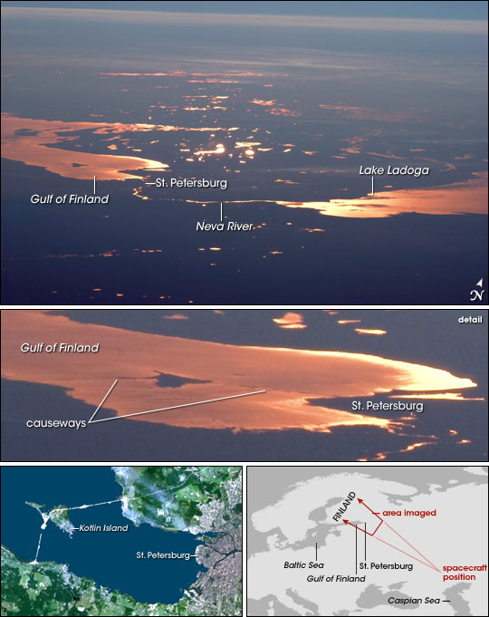 st  petersburg and the gulf of finland   image of the day