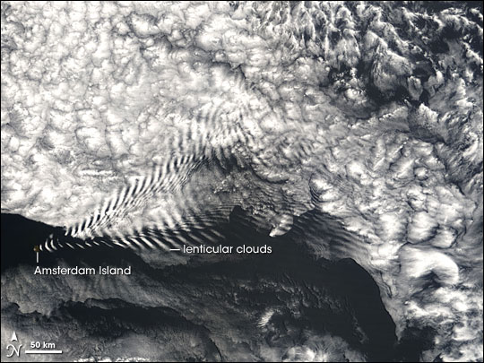 Wave Clouds Near Amsterdam Island