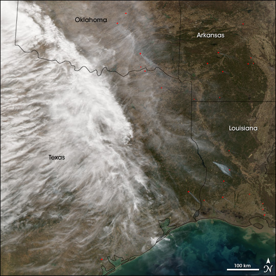 Fires in the Southern U.S.A.