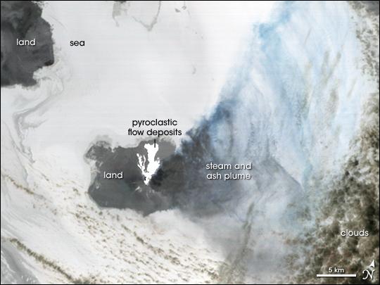 Eruption on Augustine Island