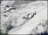 Record Snow over U.S. East
