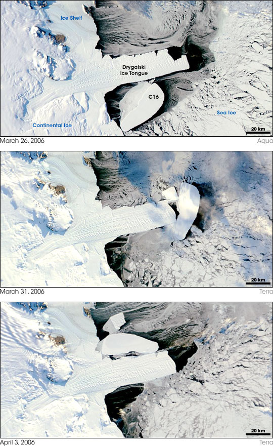 Antarctic Ice Collision