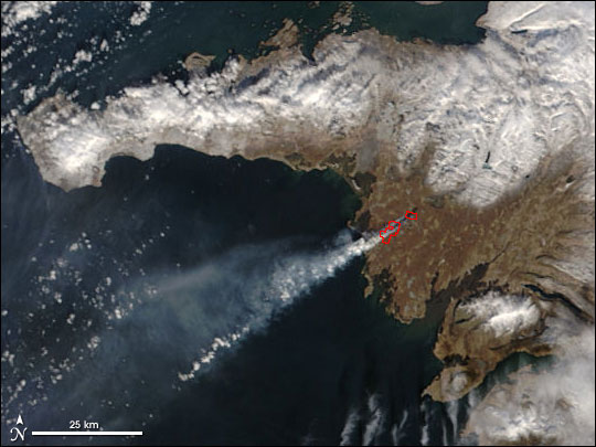 Unusual Wildfire in Iceland
