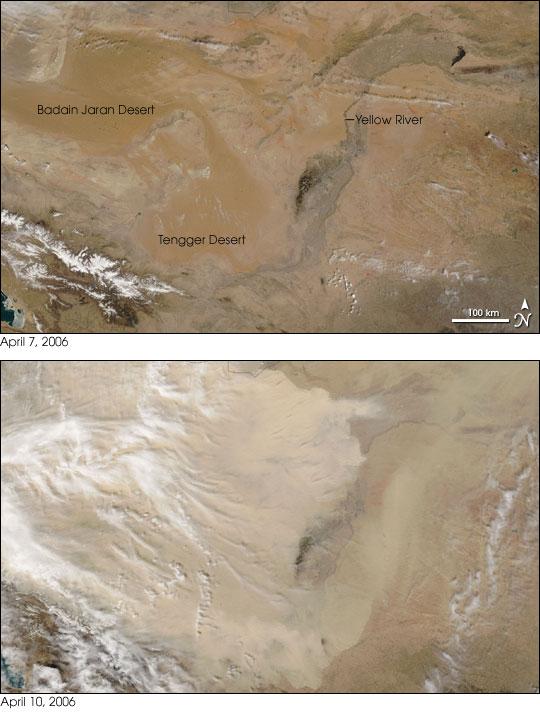 Dust Storm Spreads Out of Gobi Desert