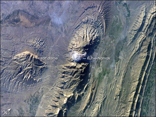 Salt Dome in the Zagros Mountains, Iran