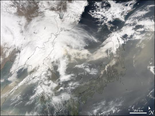 Dust over Japan