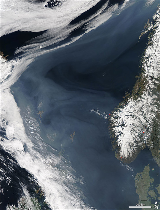 Smoke over the Norwegian Sea