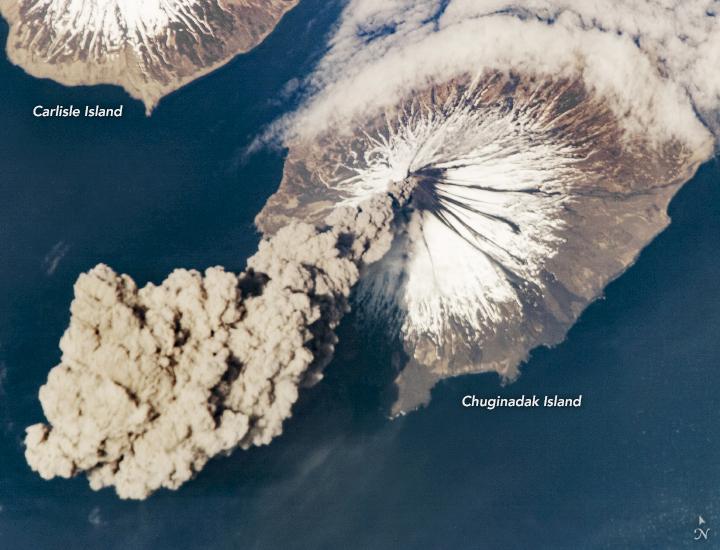 Activity at Cleveland Volcano, Aleutian Islands