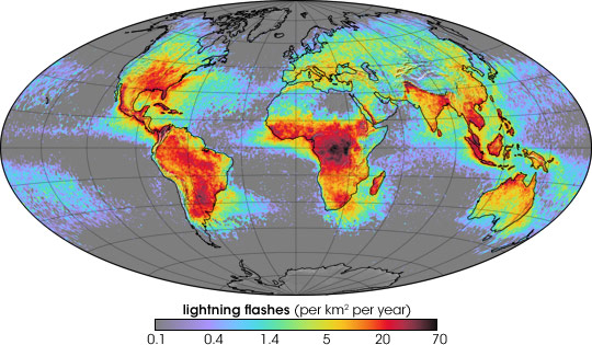 Patterns of Lightning Activity