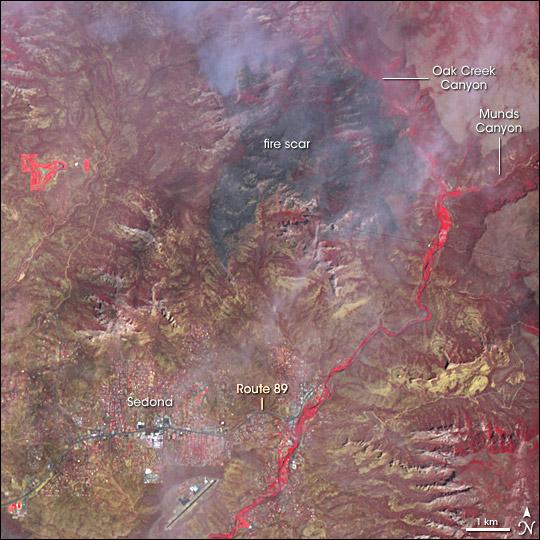 Brins Fire Near Sedona, Arizona - related image preview