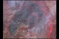 Brins Fire Near Sedona, Arizona