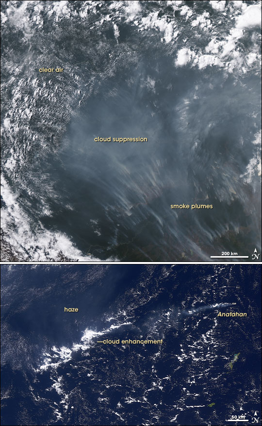 Impact of Polluted Skies on Clouds and Climate