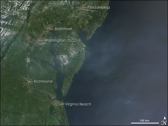 Haze over the Eastern United States