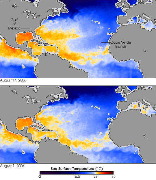 Hurricane-Ready Sea Surface Temperatures