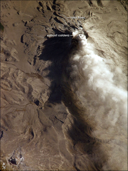 Ash Cloud from Mount Ubinas, Peru