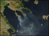 Smoke Over the Aegean Sea