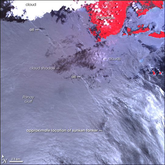 Oil Spill near Guimaras Island