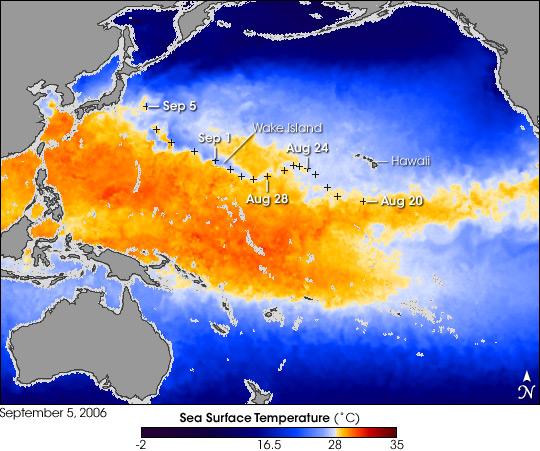 Super Typhoon Ioke's Cool Wake