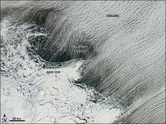Cloud Streets off the Amery Ice Shelf