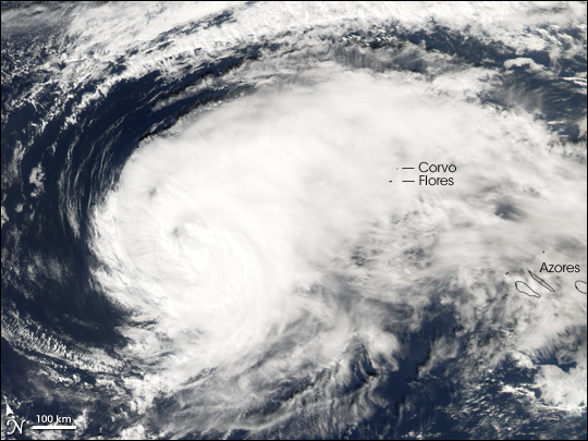 Hurricane Gordon Nears the Azores