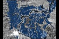 Wet-Season Floods Along the Mekong River